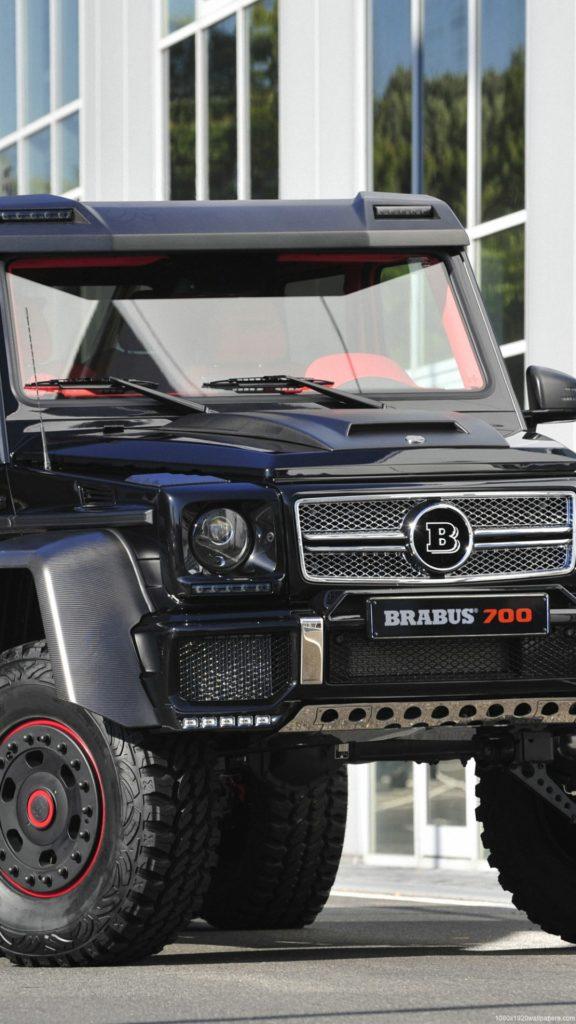автомобиль, черный mersedes brabus 700
