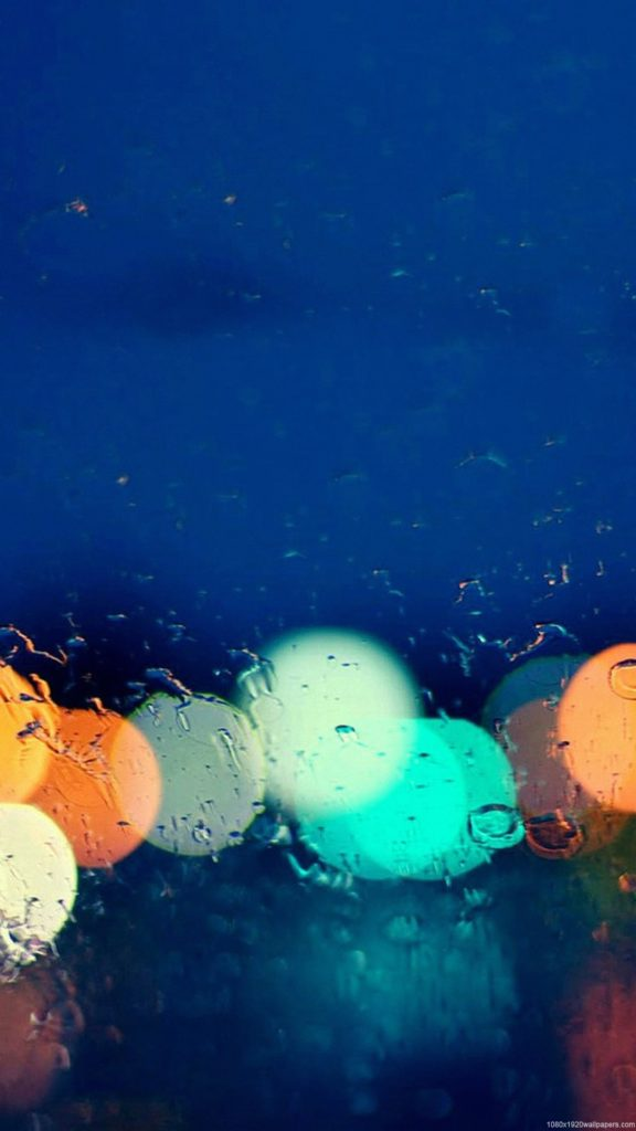 мокрое стекло, дождливо, огни