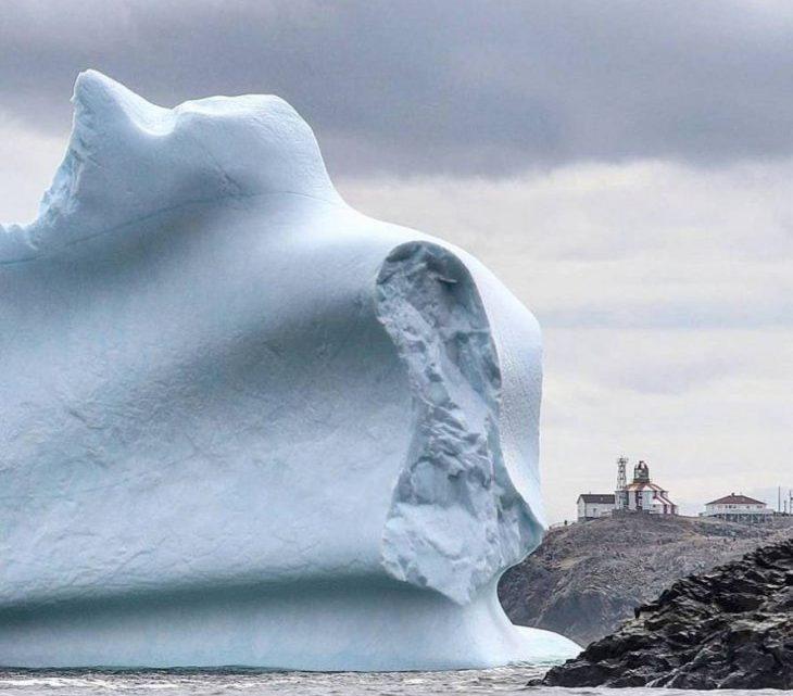 Завораживающие айсберги близ канадского острова Ньюфаундленд (16 фото)