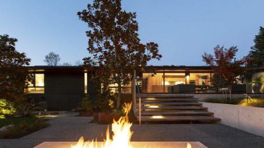 Реконструкция дома в стиле ранчо в США (26 фото)