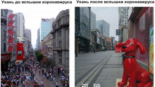 Ухань, до и после вспышки коронавируса (17 фото)