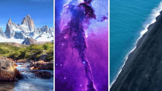 Природа, космос для телефона (32 обоев)
