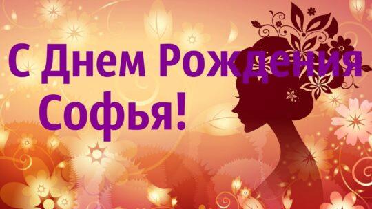 С днем рождения София — картинки и открытки