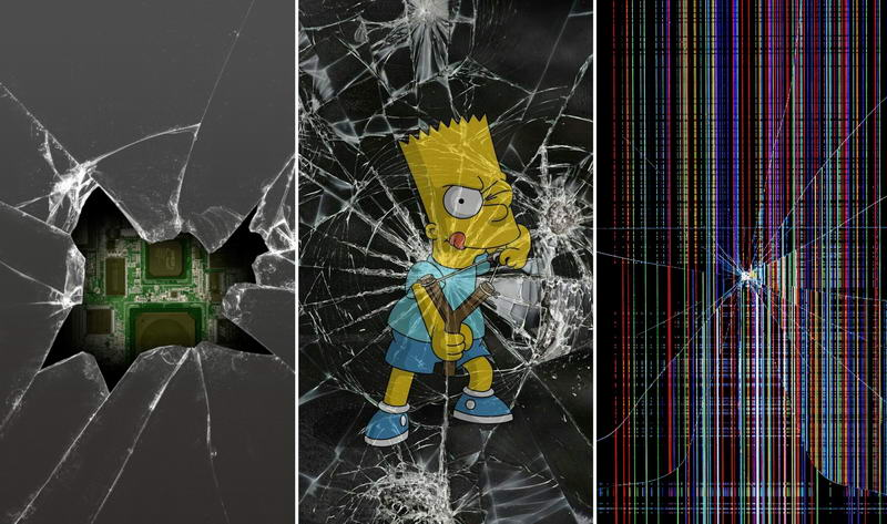 Обои на телефон — разбитое стекло