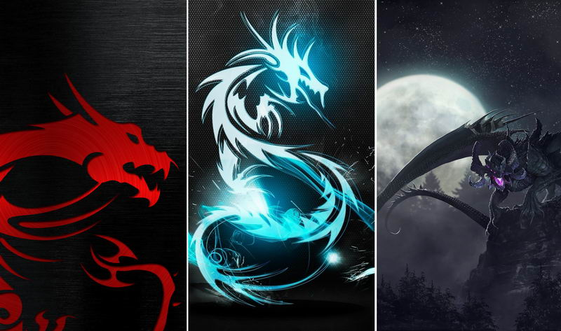 Дракон — обои на телефон
