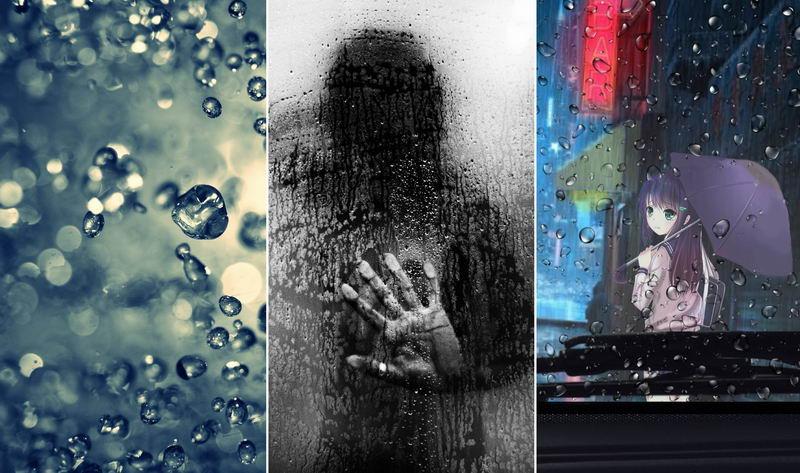 Дождь — обои на телефон