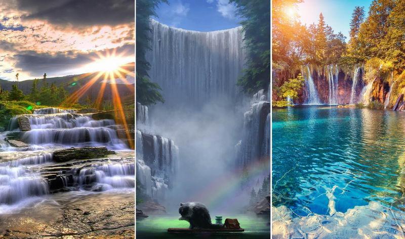 Водопад — обои на телефон
