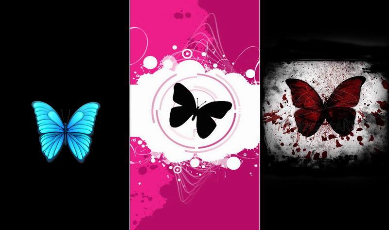 Бабочки — обои на телефон